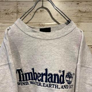 Timberland - 《刺繍ロゴ》Timberland ティンバーランド スウェット☆L 白 ホワイト