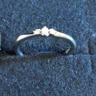カナルヨンドシー(canal4℃)の4℃ Pt950  小さなダイヤモンド スリーストーンリング 8号(リング(指輪))