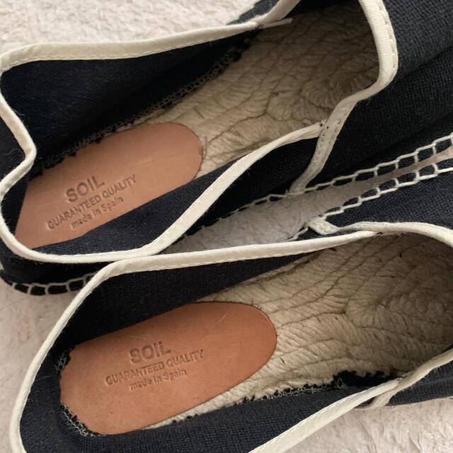 URBAN RESEARCH(アーバンリサーチ)のSOIL エルパドリーユ 黒 レディースの靴/シューズ(スリッポン/モカシン)の商品写真