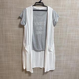a.i.n  授乳服 Tシャツ ベスト(マタニティトップス)
