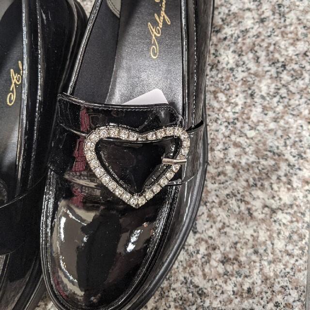 厚底ハートバックルエナメルローファーLLロジータ系量産型地雷系ゴシックロリータ レディースの靴/シューズ(ローファー/革靴)の商品写真