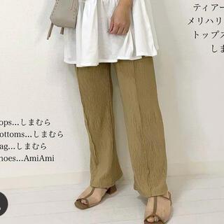 しまむら 楊柳 カット パンツ 緑 M