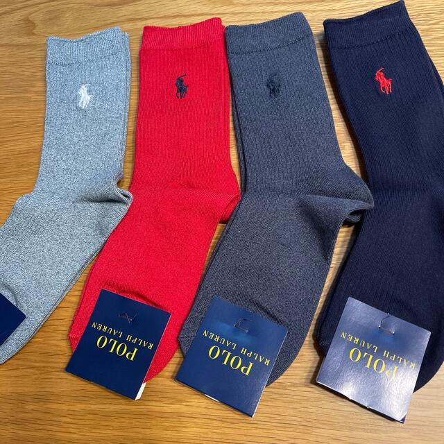 POLO RALPH LAUREN(ポロラルフローレン)の新品 ラルフローレン 靴下 4足組 キッズ/ベビー/マタニティのこども用ファッション小物(靴下/タイツ)の商品写真