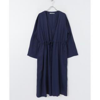 アーバンリサーチ(URBAN RESEARCH)の羽織り ガウン カーデガン ロング丈 ネイビー 春(スプリングコート)