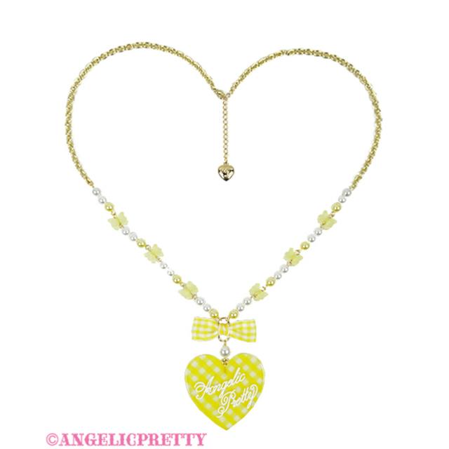 Angelic Pretty(アンジェリックプリティー)のLovelyギンガムネックレス レディースのアクセサリー(リング(指輪))の商品写真