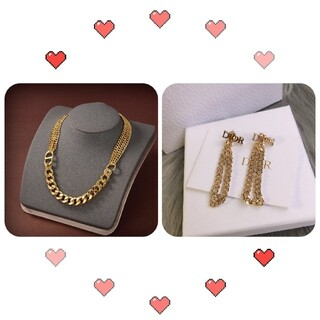 クリスチャンディオール(Christian Dior)のとても美しい Dior イヤリング、ネックレスひとそろい(ネックレス)