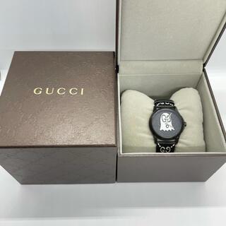 Gucci - GUCCI ゴースト腕時計 GG ブラック 黒
