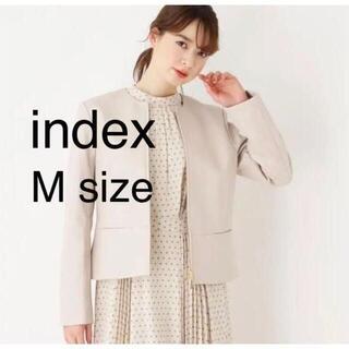 インデックス(INDEX)のIndex ライダース タグ付き 新品 未使用 サイズM(ノーカラージャケット)