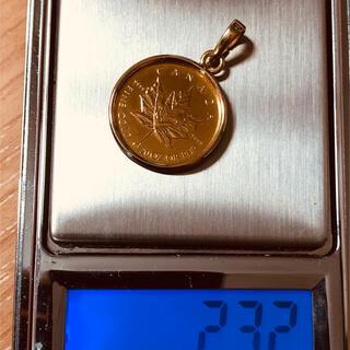 24金メイプルリーフ エリザベスコイン金貨 総重量約2.3g  1/20oz