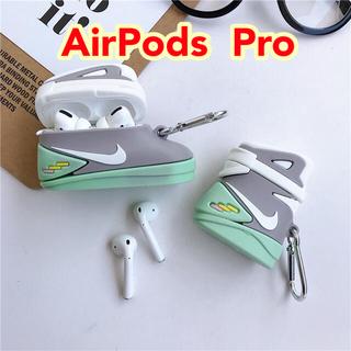 AirPods Pro ケース スニーカー 蓄光 光る エアポッズ エアマグ(ヘッドフォン/イヤフォン)