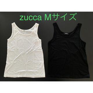 ZUCCa - zucca ズッカ タンクトップ 2枚セット Mサイズ ホワイト ブラック