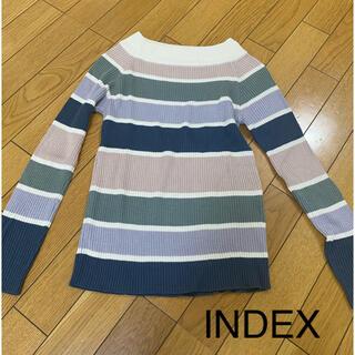 インデックス(INDEX)のINDEX マルチボーダーニット(ニット/セーター)