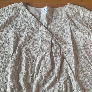 コーエン(coen)の新品☆コーエン フレンチスリーブ インドコットン グレー ブラウス(シャツ/ブラウス(半袖/袖なし))