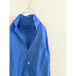 DEUXIEME CLASSE - Frank&Eileen blue BARRY 柔らかcottonシャツ