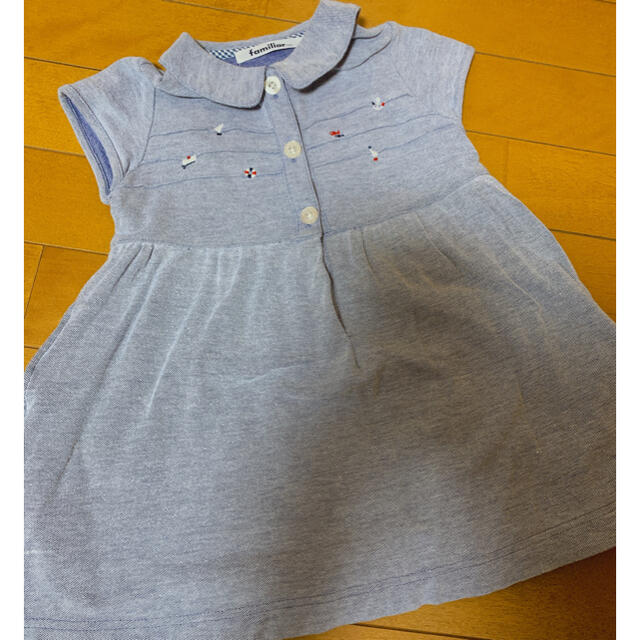 familiar(ファミリア)のファミリア 夏用 ワンピ 100 キッズ/ベビー/マタニティのキッズ服女の子用(90cm~)(ワンピース)の商品写真