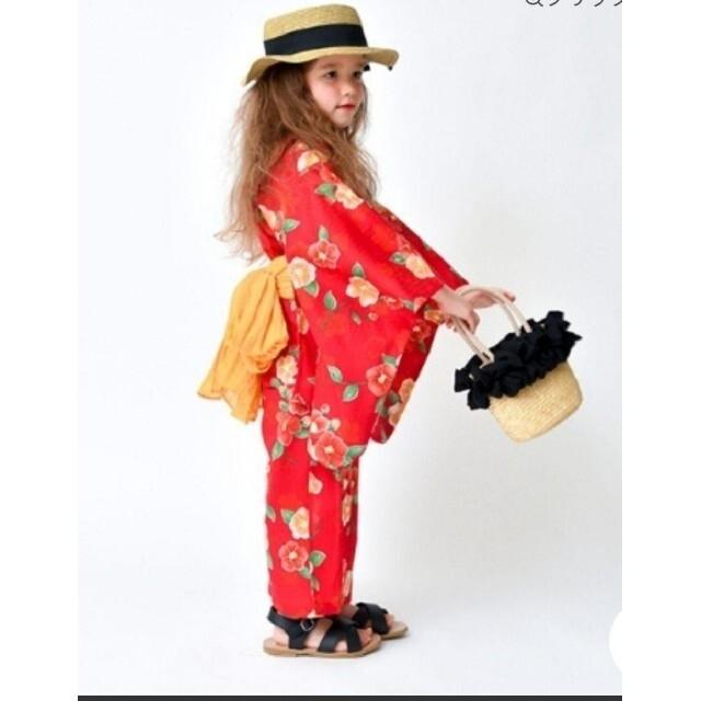 Branshes(ブランシェス)のブランシェス 浴衣 ゆかた キッズ 110 キッズ/ベビー/マタニティのキッズ服女の子用(90cm~)(甚平/浴衣)の商品写真