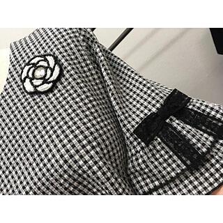 キラキラカメリアが可愛いギンガムチェックジャケット(シャツ/ブラウス(長袖/七分))