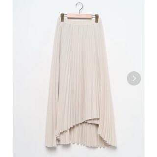ケービーエフプラス(KBF+)のKBF+ ウーリーアシメプリーツスカート(ロングスカート)