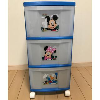 ディズニー(Disney)の(SALE) ディズニー ミッキーマウス プラスチックチェスト3段収納(棚/ラック/タンス)