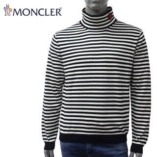 モンクレール(MONCLER)の13 MONCLER ボーダー ハイネック サマー ニット カットソー L(ニット/セーター)