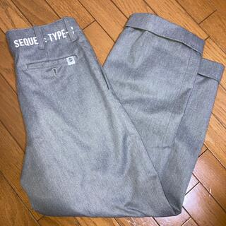 FRAGMENT - SEQUEL  TYPE-C GRAY TWO TUCK PANTS S