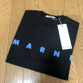 マルニ(Marni)の新品タグ付 MARNI マルニ ロゴ Tシャツ キッズ 12Y S ブラック(Tシャツ(半袖/袖なし))