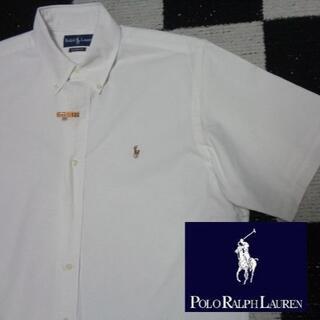 ラルフローレン(Ralph Lauren)の【ラルフローレン】半袖BDシャツ海外L(122)白オックスフォードポロ(シャツ)