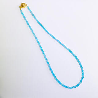 SILVER925 ネックレス シーブルーカルセドニー 40cm AANI アニ