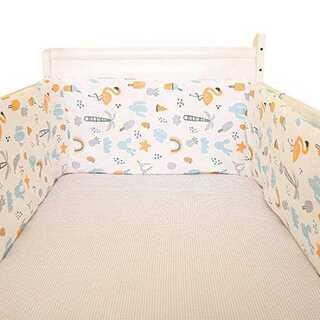 ベッドガード ベッドバンパー ベビー 子供 寝返り 保護 取付簡単 通気性  (ベビーフェンス/ゲート)