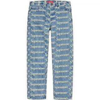 新品 30 Supreme Frayed Logos Regular Jean