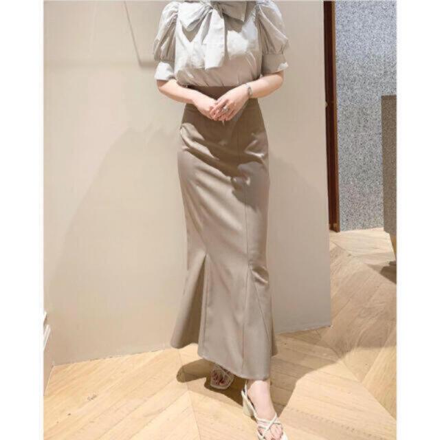 snidel(スナイデル)のハイウエストヘムフレアスカート  レディースのスカート(ロングスカート)の商品写真