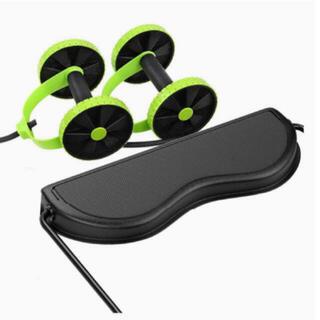 【おうちでトレーニング!】 腹筋ローラー エクササイズローラー チューブ(トレーニング用品)