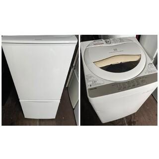 シャープ(SHARP)のSHARP2ドア冷蔵庫137L&TOSHIBA5キロ洗濯機  家電2点セット(冷蔵庫)