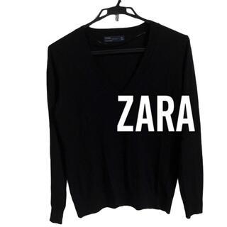 ZARA - ZARA ザラ Vネックニット 黒 薄手 長袖