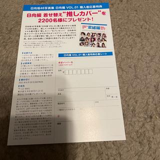 欅坂46(けやき坂46) - 日向撮 応募券 ステッカーなし