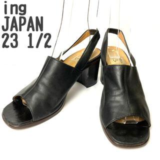イング(ing)のing イング バックストラップパンプス ミュール オープントゥ 日本製(ハイヒール/パンプス)