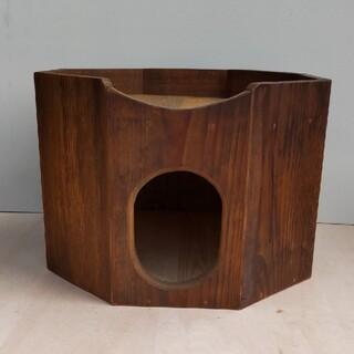 古材で作った 猫のハ角型のお家(その他)