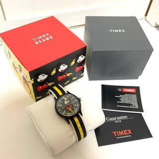 タイメックス(TIMEX)の美品 タイメックス ビームス コラボ ミッキー 腕時計 90周年記念(腕時計)
