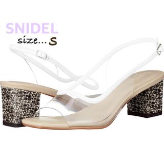 snidel - 【SNIDEL】クリアサンダル パイソン柄S