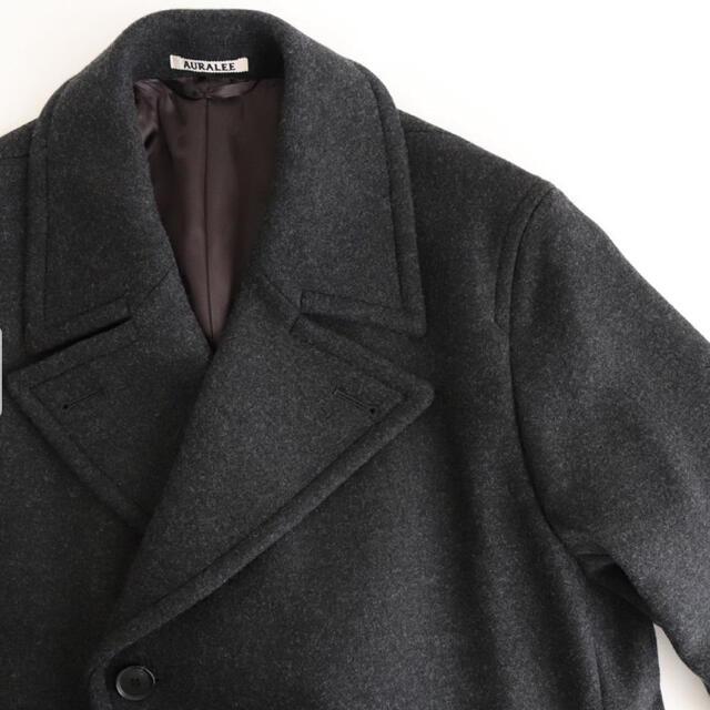 COMOLI(コモリ)の新品 AURALEE  MELTON DOUBLE-BREASTED COAT メンズのジャケット/アウター(チェスターコート)の商品写真