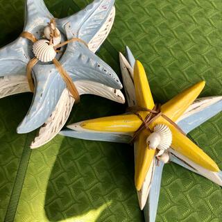 【ハワイ購入⭐︎SAND PEOPLE】かわいいヒトデの木彫りオーナメント✩②(インテリア雑貨)