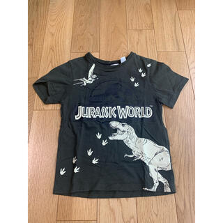 H&M - H&M×JURASSIC WORLD GREEN KIDS TEE 110㎝程