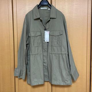 UNIQLO - リネンコットンシャツジャケット