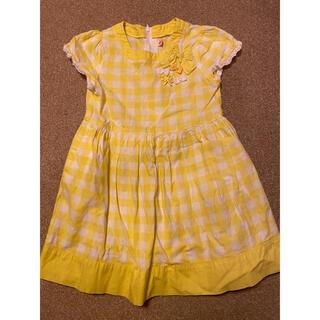 mikihouse - ミキハウス  120 ワンピース  黄色 リボン ドレス フォーマル