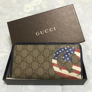 Gucci - 美品 グッチ 長財布 ブルー
