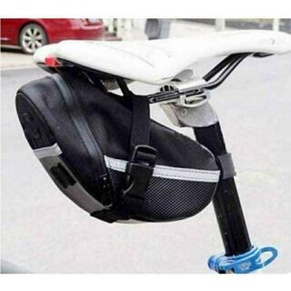 サドルバッグ 大容量 黒 ロードバイク クロス マウンテン 宅配  自転車(バッグ)
