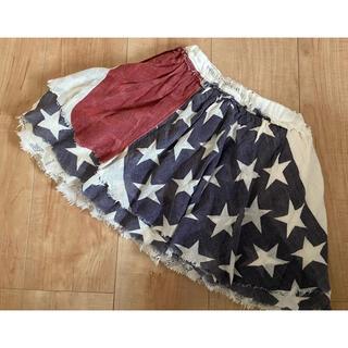 ゴートゥーハリウッド(GO TO HOLLYWOOD)のゴートゥハリウッド 星条旗スカート 110(スカート)