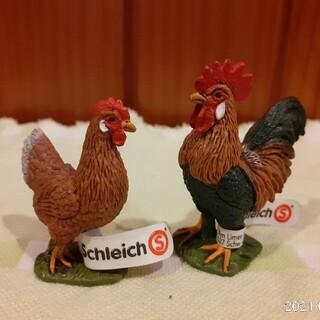【廃盤】シュライヒ Schleich ニワトリ 雄鶏 雌鳥