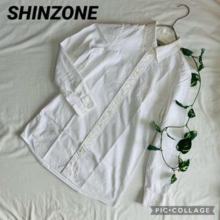 シンゾーン(Shinzone)のミラーオブシンゾーン SHINZONE  ボタンダウンシャツ 白(シャツ/ブラウス(長袖/七分))