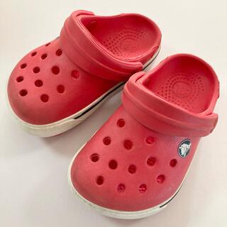 クロックス(crocs)の子供靴 14㎝ベビー クロックスサンダル 赤 夏 初夏プチ値下げ即購入可能‼️(サンダル)